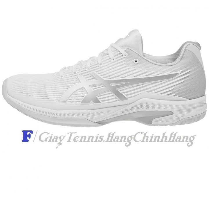Giày Tennis Asics Solution Speed FF White/Silver 2018