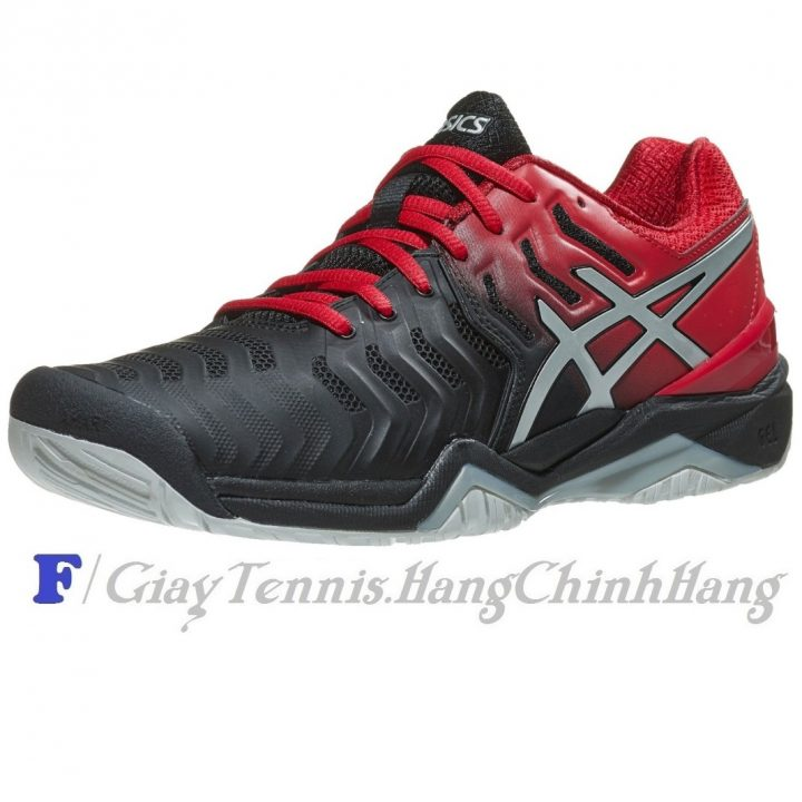 Giày Tennis Asics Gel Resolution 7 Black/Red
