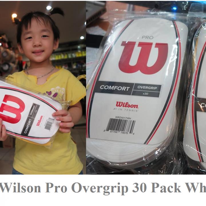 Quấn Cán Vợt Wilson Pro Overgrip White- Bịch 30 chiếc