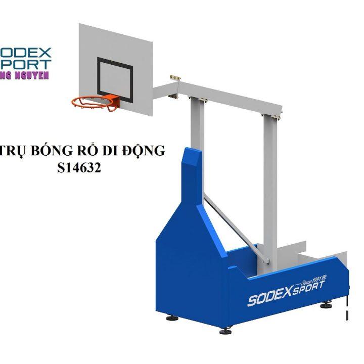 Trụ Bóng Rổ Di Động Cao Cấp Sodex S14632 – Đối Trọng CWI270kg