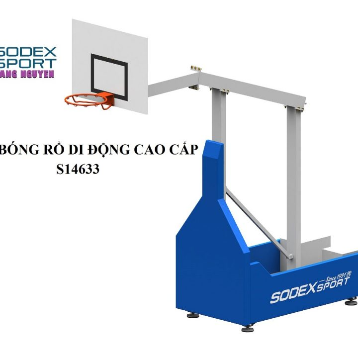 Trụ Bóng Rổ Di Động Cao Cấp Sodex S14633-CPTC – Đối Trọng CWI390kg