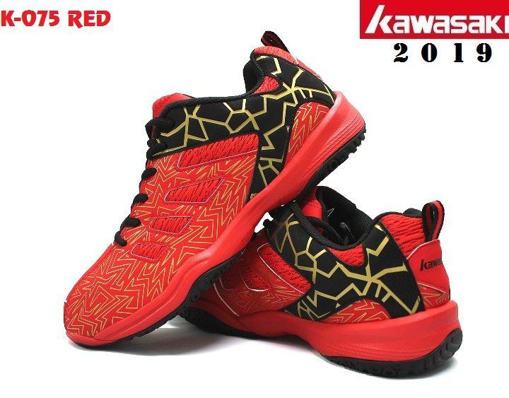 Giày Cầu Lông Kawasaki K075 Đỏ / Đen – Năm 2019