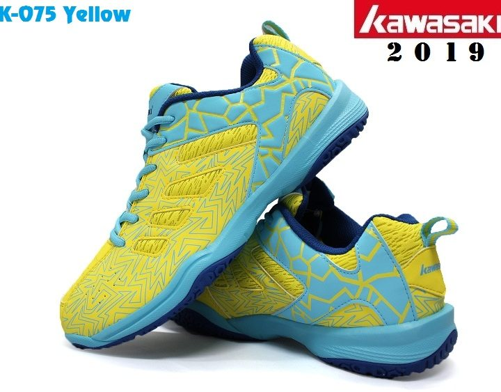 Giày Cầu Lông Kawasaki K075 Vàng / Xanh – Năm 2019