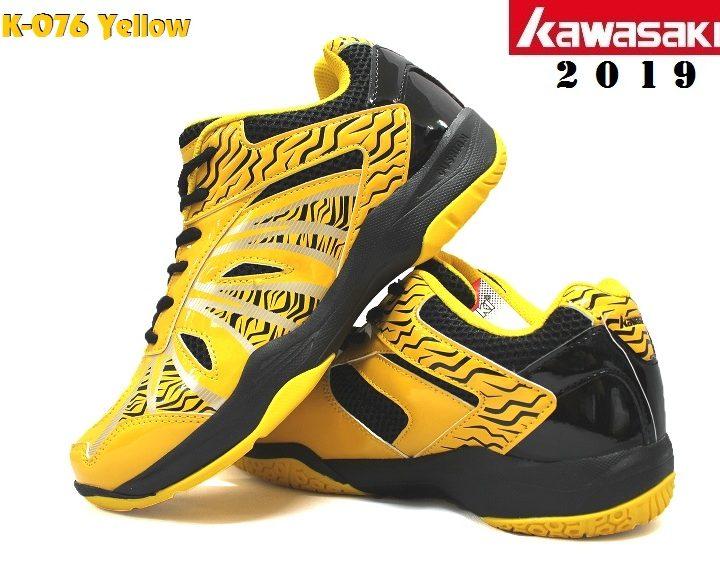 Giày Cầu Lông Kawasaki K076 ZigZag Vàng / Đen – Năm 2019