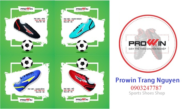 Giày Đá Bóng Prowin FM1401 – Cho Người Lớn