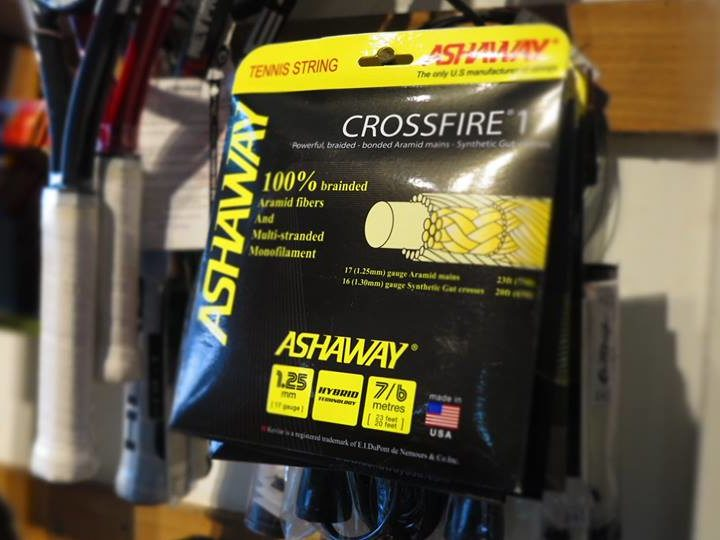 Dây Cước Vợt Tennis Ashaway Crossfire 17 (Loại 2 sợi)