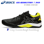 Giày Tennis Asics Gel Resolution 7 Black/Sour Yuzu (E701Y-003)