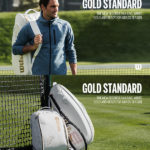 Túi Đựng Vợt Tennis Wilson Federer DNA 12 Pack WR8004401001 – White/Gold