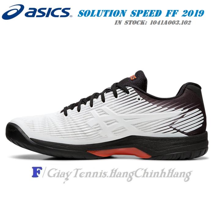 Giày Tennis Asics Solution Speed FF 1041A003.102 Năm 2019 – Màu Trắng/Đen