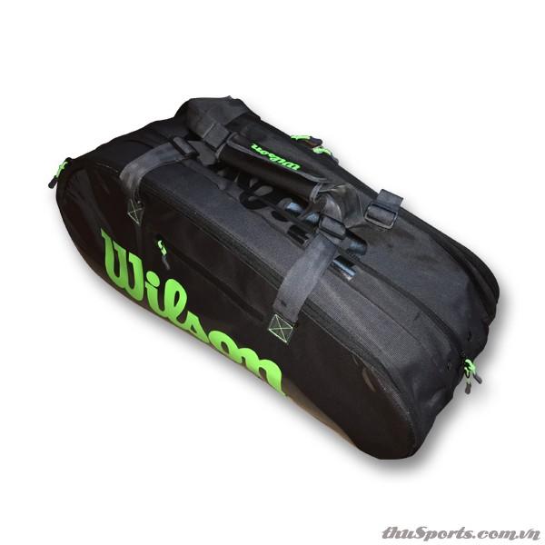 Túi Đựng Vợt Tennis Wilson Super Tour 3 Comp WR8004101001 – Charco/Green