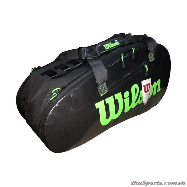 Túi Đựng Vợt Tennis Wilson Super 2 Comp Large WR8004201001 – Charco/Green