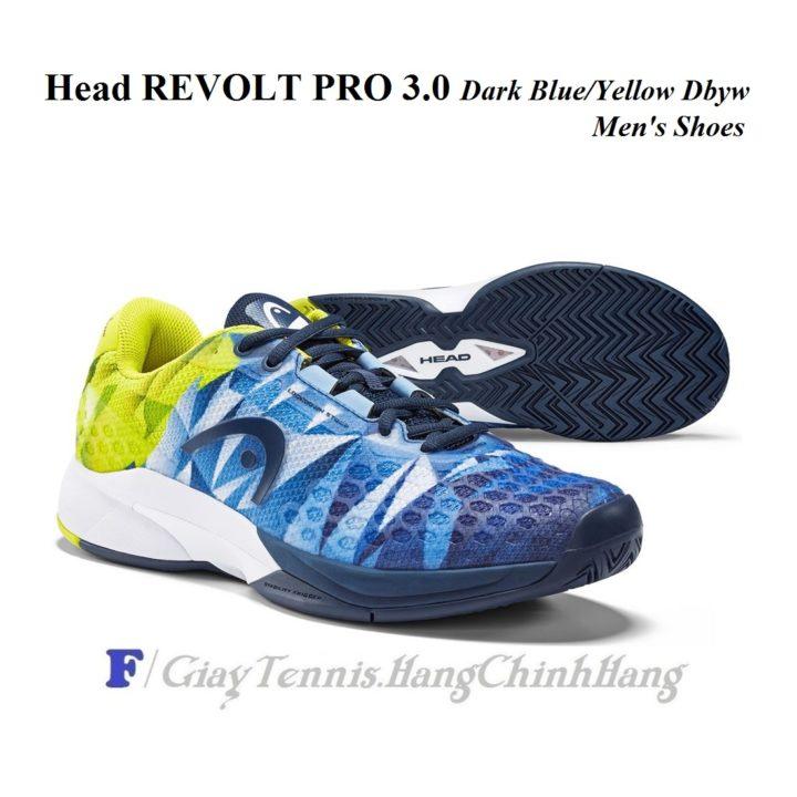 Giày Tennis Head Revolt Pro 3.0 273049 (Dark Blue/Yellow Dbyw)