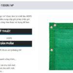 Lưới Chắn Gió HDPE Sodex Sport S55670 – 150GR/ M²