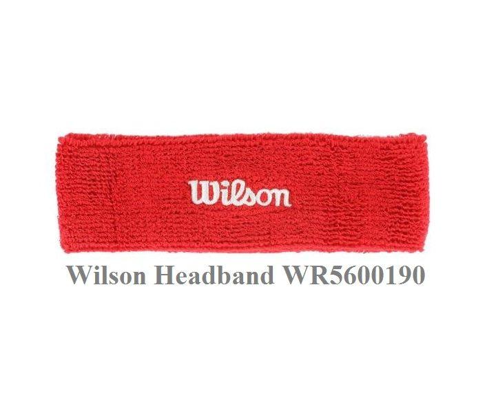 Băng Chặn Mồ Hôi Trán Wilson WR5600190 – Màu Đỏ