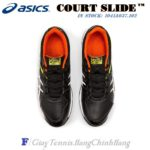 Giày Tennis Asics COURT SLIDE™ Black / Sour Yuzu (1041A037-001)