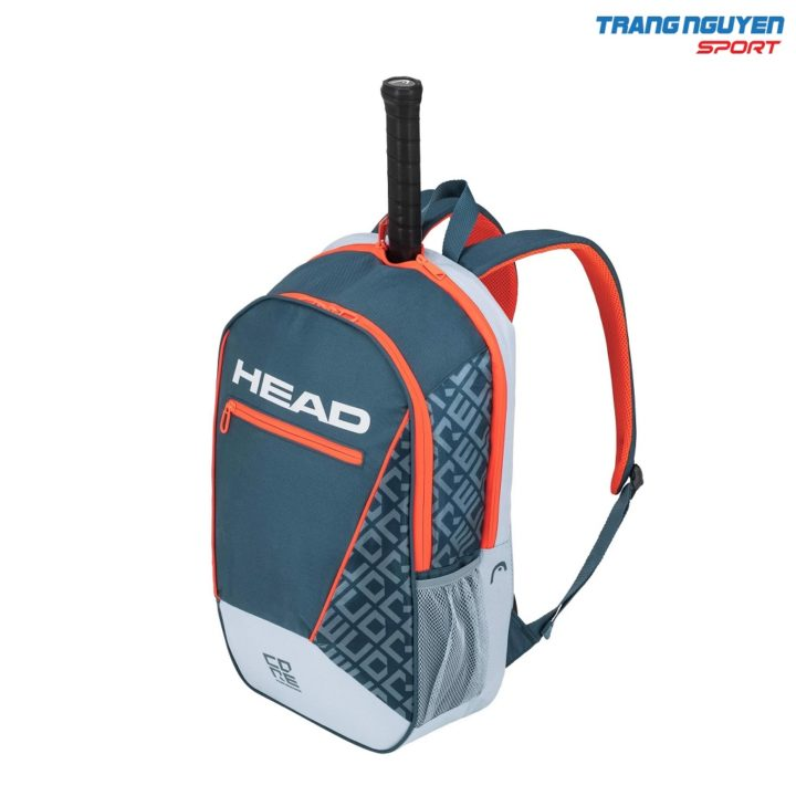 Ba lô Tennis Head Core Backpack – Màu Ghi xám/Cam