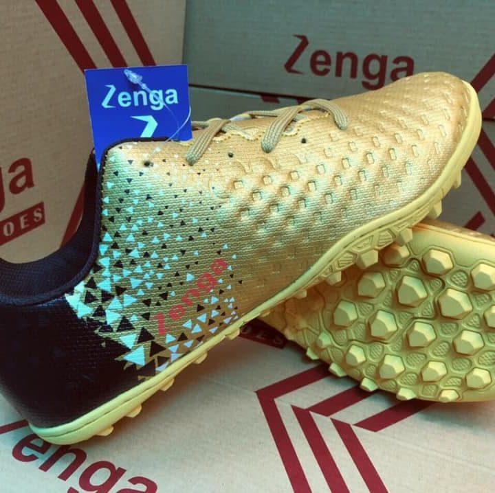 Giày Đá Bóng Zenga 01 – Màu Vàng Đồng   Giày Sân Cỏ Nhân Tạo