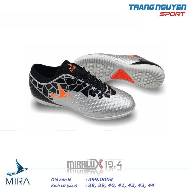 Giày Đá Bóng Mira LUX 19.4 – Màu Ghi Bạc
