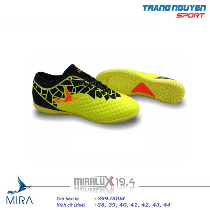 Giày Đá Bóng Mira LUX 19.4 – Màu Vàng Chanh