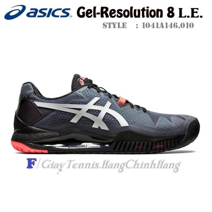 Giày Tennis Asics Gel Resolution 8 L.E. Black/Sunrise Red (1041A146.010)