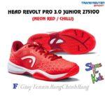 Giày Tennis Trẻ Em (KID) Head Revolt Pro 3.0 Junior (Neon Red / Chilli)