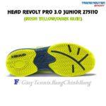 Giày Tennis Trẻ Em (KID) Head Revolt Pro 3.0 Junior (Neon Yellow/Dark Blue)