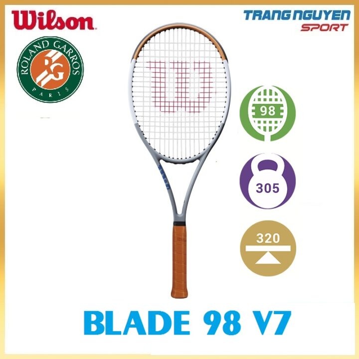 Vợt Tennis Wilson Roland Garros Blade 98 Năm 2020 (305gr)