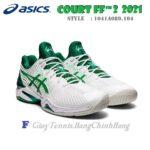 Giày Tennis Asics 2021 Court FF 2 Novak Djokovic – White / Green (1041A089.104)
