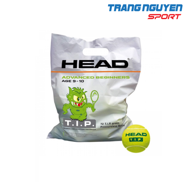 Túi 72 Quả Bóng Tennis Trẻ Em HEAD T.I.P Green (9 – 10 tuổi)