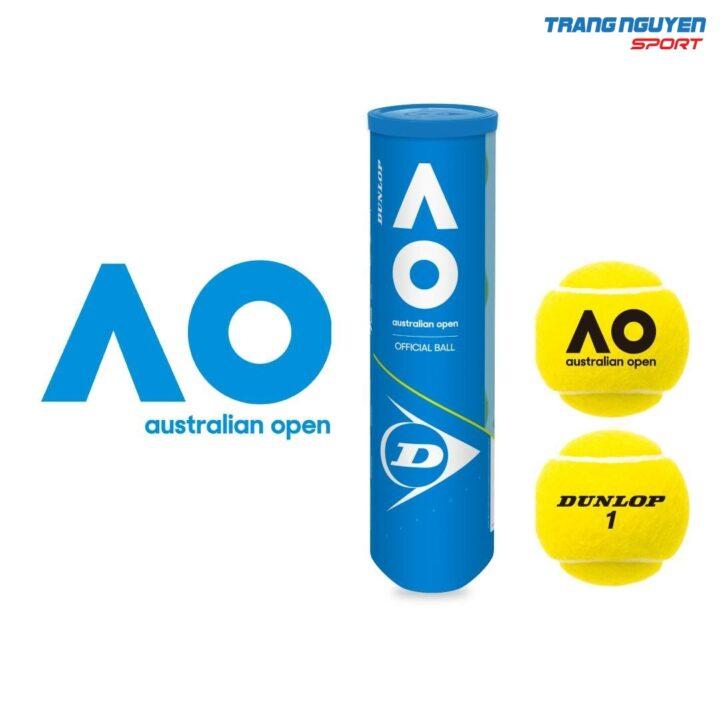 Bóng Tennis Dunlop AO (Australian Open) Năm 2021 – Hộp 4 quả